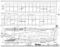 Brolga plan model airplane plan
