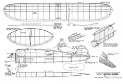 Brooklyn Dodger 32in model airplane plan