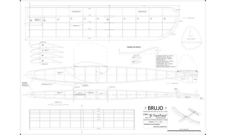 Brujo model airplane plan
