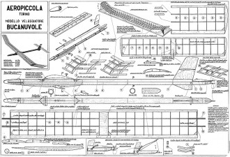 Bucanuvole Aeropiccola model airplane plan