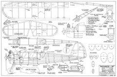 Buccaneer 36in model airplane plan