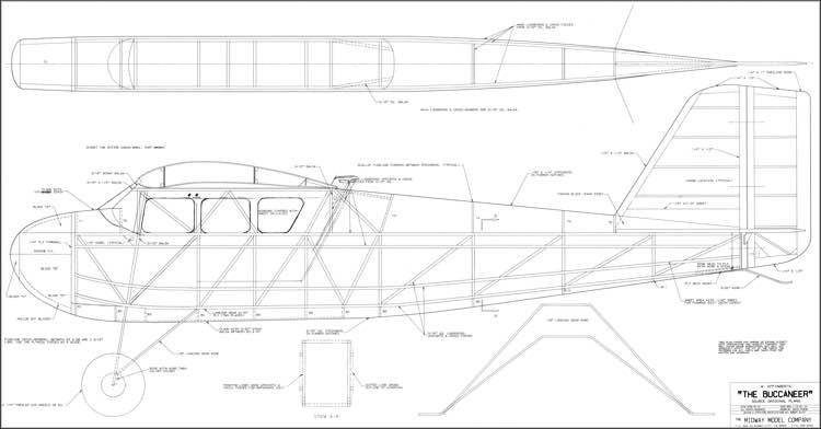 The Buccaneer model airplane plan