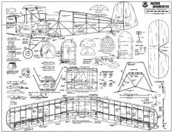 Bucker Jungmeister RCM model airplane plan