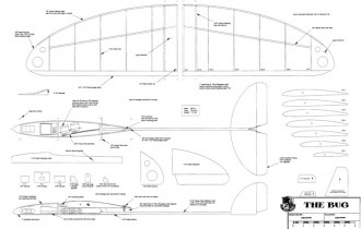 Bug HLG 30in model airplane plan