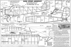 Buhl Sport Airsedan model airplane plan
