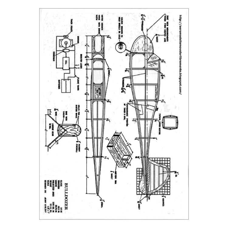 Bulldozer model airplane plan