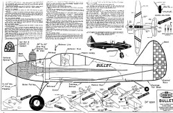 Bullet 3 model airplane plan