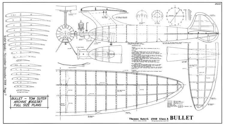 Bullet model airplane plan