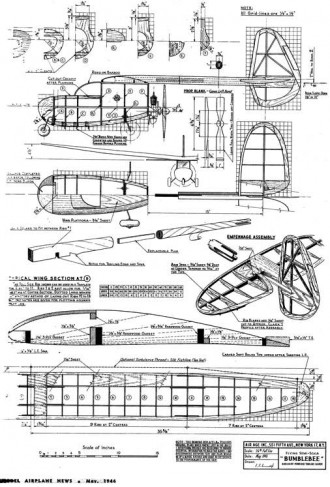 Bumblebee model airplane plan