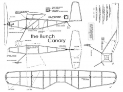 Bunch Canary 13in model airplane plan