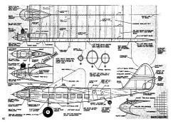 Burnelli model airplane plan