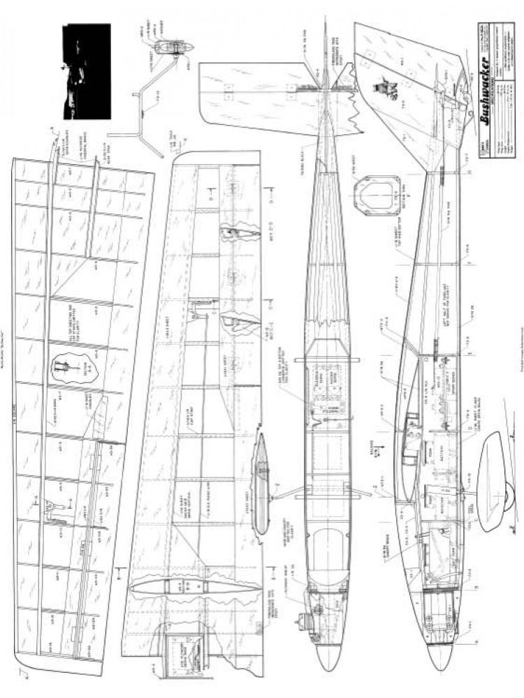 Bushwacker 69in model airplane plan