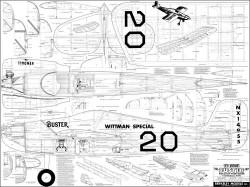 Buster Berkeley 48in model airplane plan