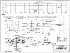 Buttercup 27in model airplane plan