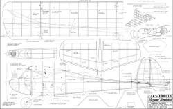 Buzzard Bombshell 4Ks model airplane plan