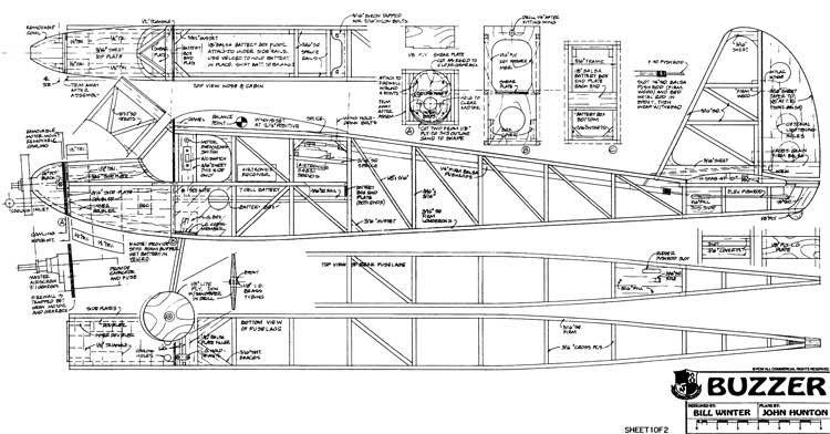 Buzzer model airplane plan