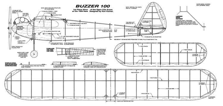Buzzer100 model airplane plan