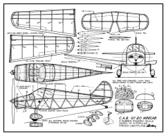 C.A.B. GY 20 model airplane plan