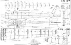 CB-27 model airplane plan