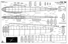 CB-36 model airplane plan