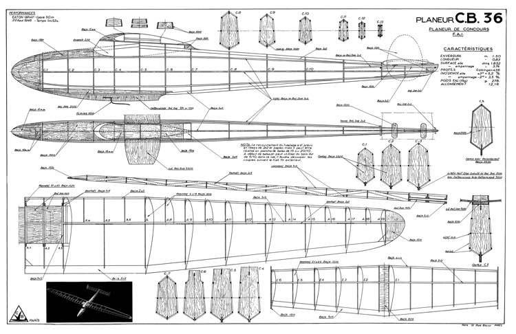 CB-36 model airplane plan