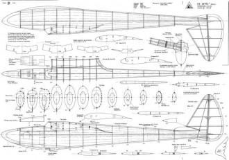 """CB 28 """"RC"""" Replica model airplane plan"""