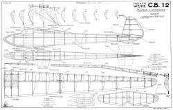 CB 12 model airplane plan