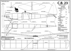CB 23 model airplane plan