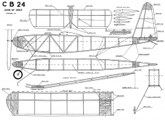 CB 24 model airplane plan