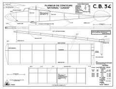CB 34 model airplane plan