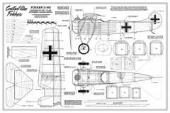 Fokker D-VIII model airplane plan