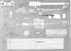 CL Jet Trainer model airplane plan