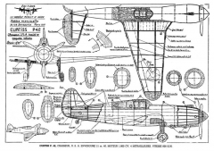 CURTISS XP42 model airplane plan