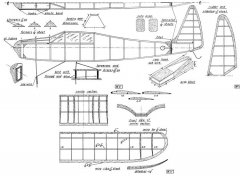Cabin-Gull-Wing model airplane plan