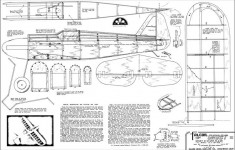 Cadet Falcon 33in model airplane plan