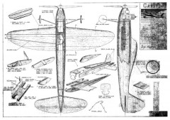 Cadetta VVC model airplane plan
