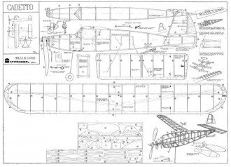 Cadetto VL model airplane plan