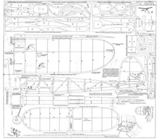 Calabrone model airplane plan