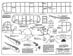 California Bambino 28in model airplane plan