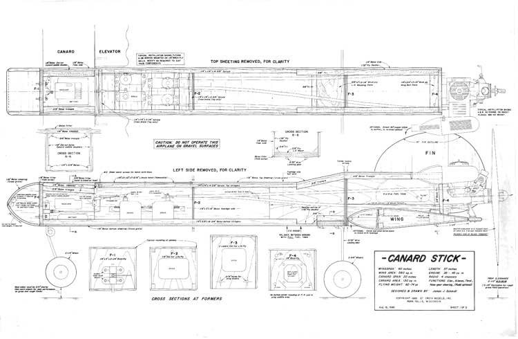 Canard Stick model airplane plan