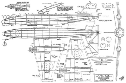 Canberra model airplane plan