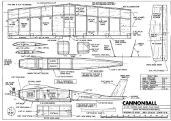 Cannonball model airplane plan