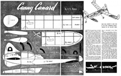 CannyCanard model airplane plan