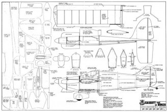 Cassut and Bonzo 34in model airplane plan
