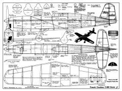 Caudron C-460 model airplane plan