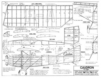 Caudron C-109 model airplane plan
