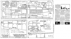 Caudron Racer P1 model airplane plan