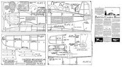 Caudron Racer P1 model airplane plan