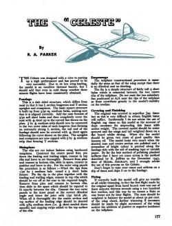 Celeste model airplane plan