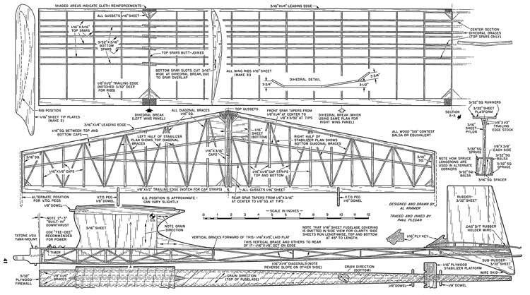 Celestian model airplane plan